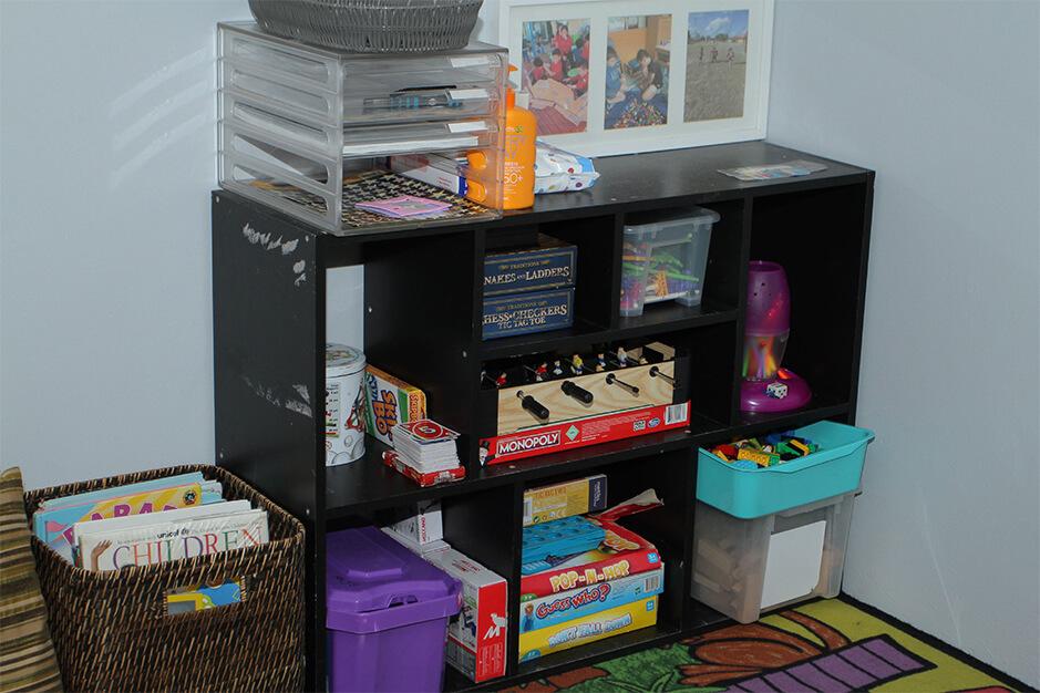 educational games inside the OSHC room