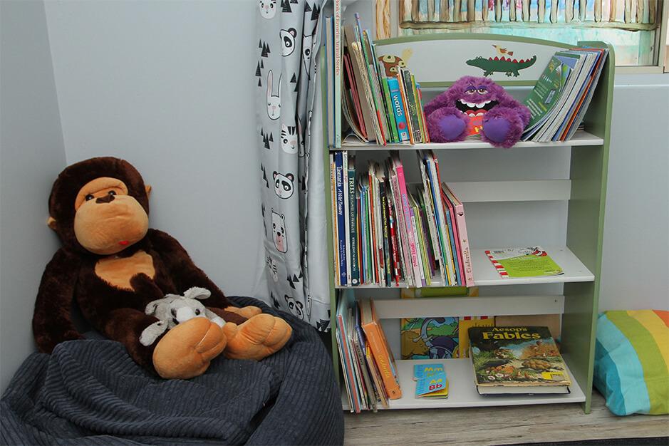 bookshelf for educational story books