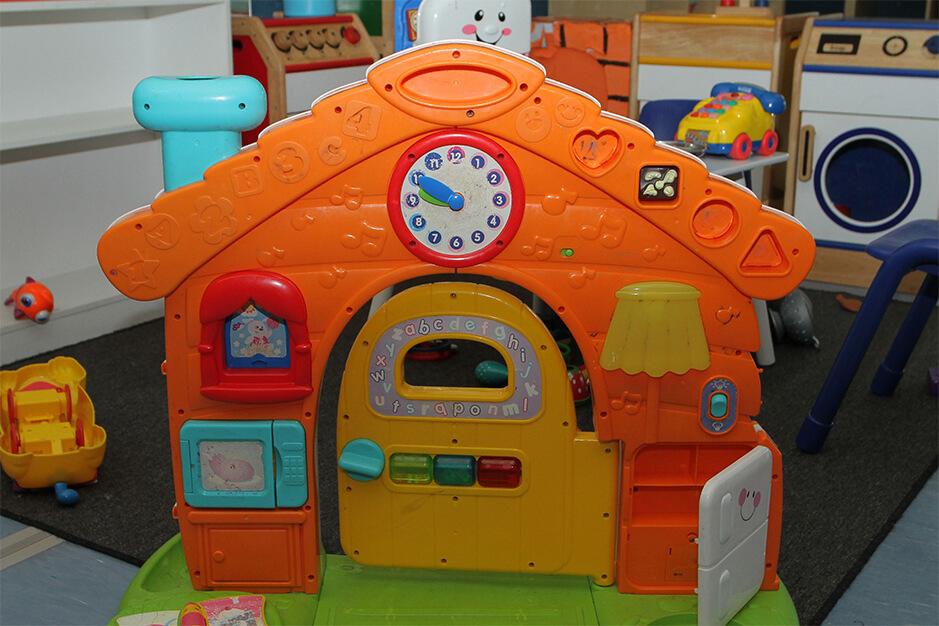 orange house playset