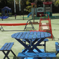 pinic table at the st james centre playground