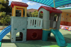 covered playground slide