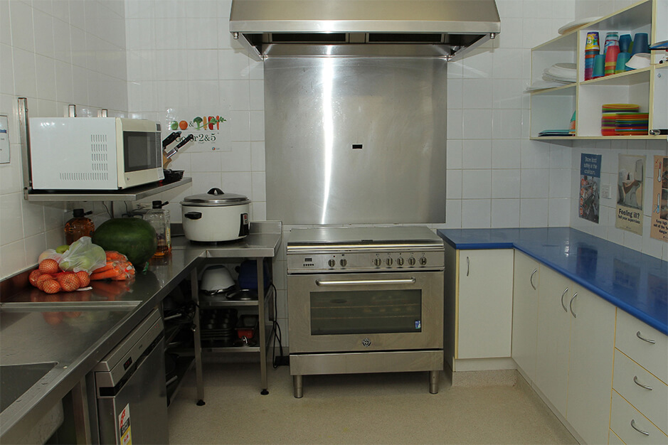 kitchen at st james centre